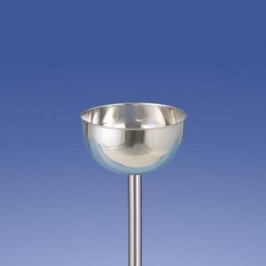 Weihwasserschale mit gebörteltem Rand Maße wählbar unten mit Zapfen passend für alle Standleuchter