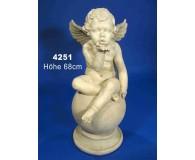 Engel Kußhand auf der Kugel, Höhe 68cm