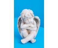Engel Kunststoff Samuel sitzend , schlafend Höhe 14 cm