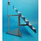 NEU Dekorationstreppe 8 Stufen 80cm hoch
