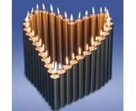 Herz 36 Kerzen