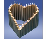 Herz 44 Kerzen