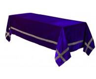 Katafalkdecke 150x300cm Samt farbig und passender Bordüre