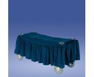 Scherenwagenbehang blau