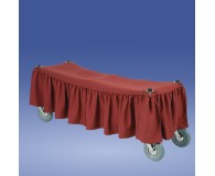 Scherenwagenbehang rot