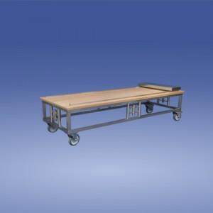 Katafalkwagen Holzplatte mit Rollschlitten
