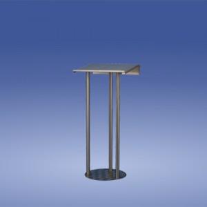 Kondolenzpult Edelstahl sehr standfest 3 Beine oben abgekantet. Grundplatte,Neigung,Beleuchtung und Zubehör wählbar
