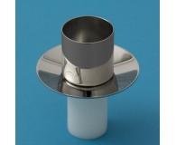 Kerzenteller poliert KT40 für Nylonkerze 4cmØ mit 37,5mmØ Sockel