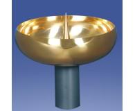 Kerzentülle vergoldet 125mmØ 40mm hoch