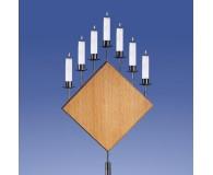 Bernstein Leuchter 7-Flammer, Raute