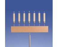 Bernstein Leuchter 7-Flammer, Gerade