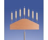 Bernstein Leuchter 7-Flammer, Pyramide