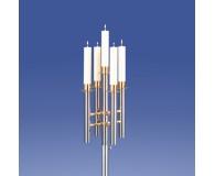 Saphir Leuchter 5-Flammer, dreidimensional *