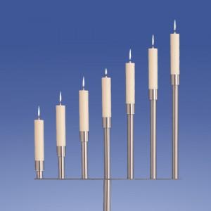 Silber Leuchter 7-Flammer, Schräge