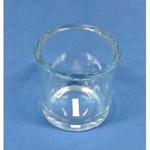 Blumenvase Zylinder aus Glaß, Oben 12 cmØ , 12 cm hoch, Unten 12cmØ