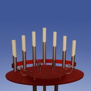 Urnenkandelaber Satin 7-flammig Acrylfarbe wählbar