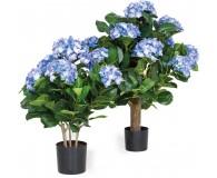 HORTENSIE Kunstpflanze, 62 cm, blau